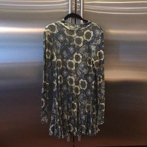 Free People Patterned Boho Dress (Size M)